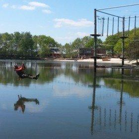 Het Avontuur, Zipline water 4 en overzicht Sensatie