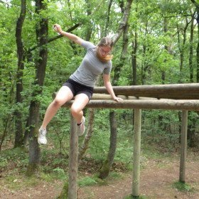 Hindernisbaan, apenrek afsprong